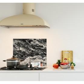 Crédence de cuisine waterfall en Islande noir blanc