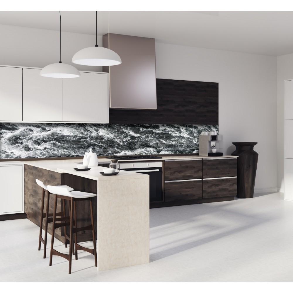 cr dence waterfall islande verre et alu credence cuisine deco. Black Bedroom Furniture Sets. Home Design Ideas
