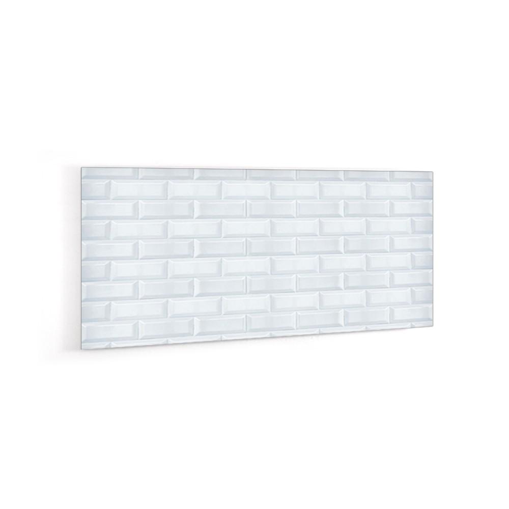 cr dence effet briques blanches verre et alu credence cuisine deco. Black Bedroom Furniture Sets. Home Design Ideas