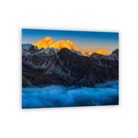 Crédence de cuisine panorama coucher du soleil Everest