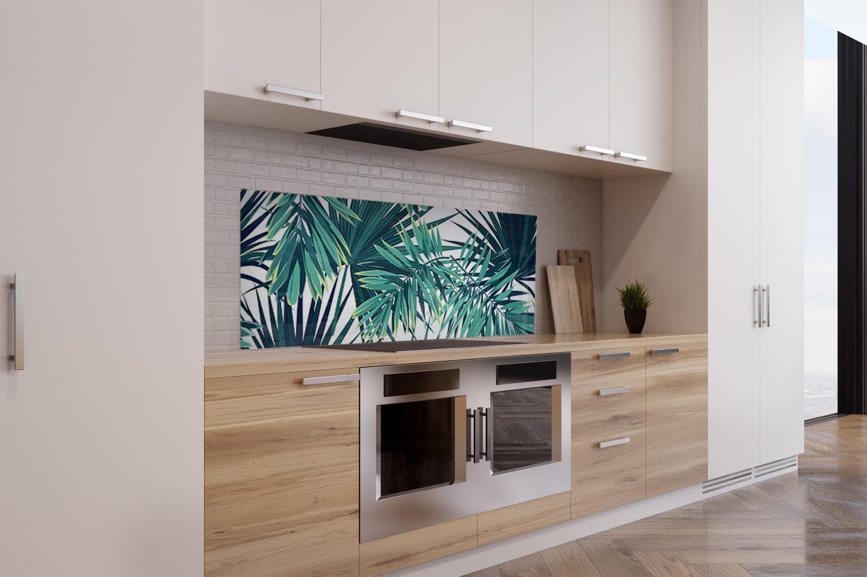 """Crédence de cuisine """"Motif feuilles jungle"""""""