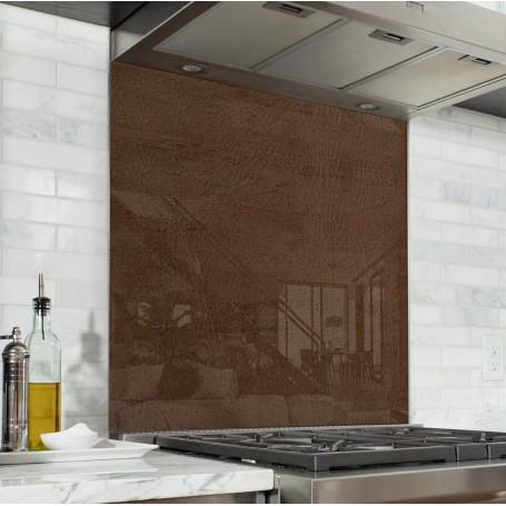 Fond de hotte effet texture cuir marron