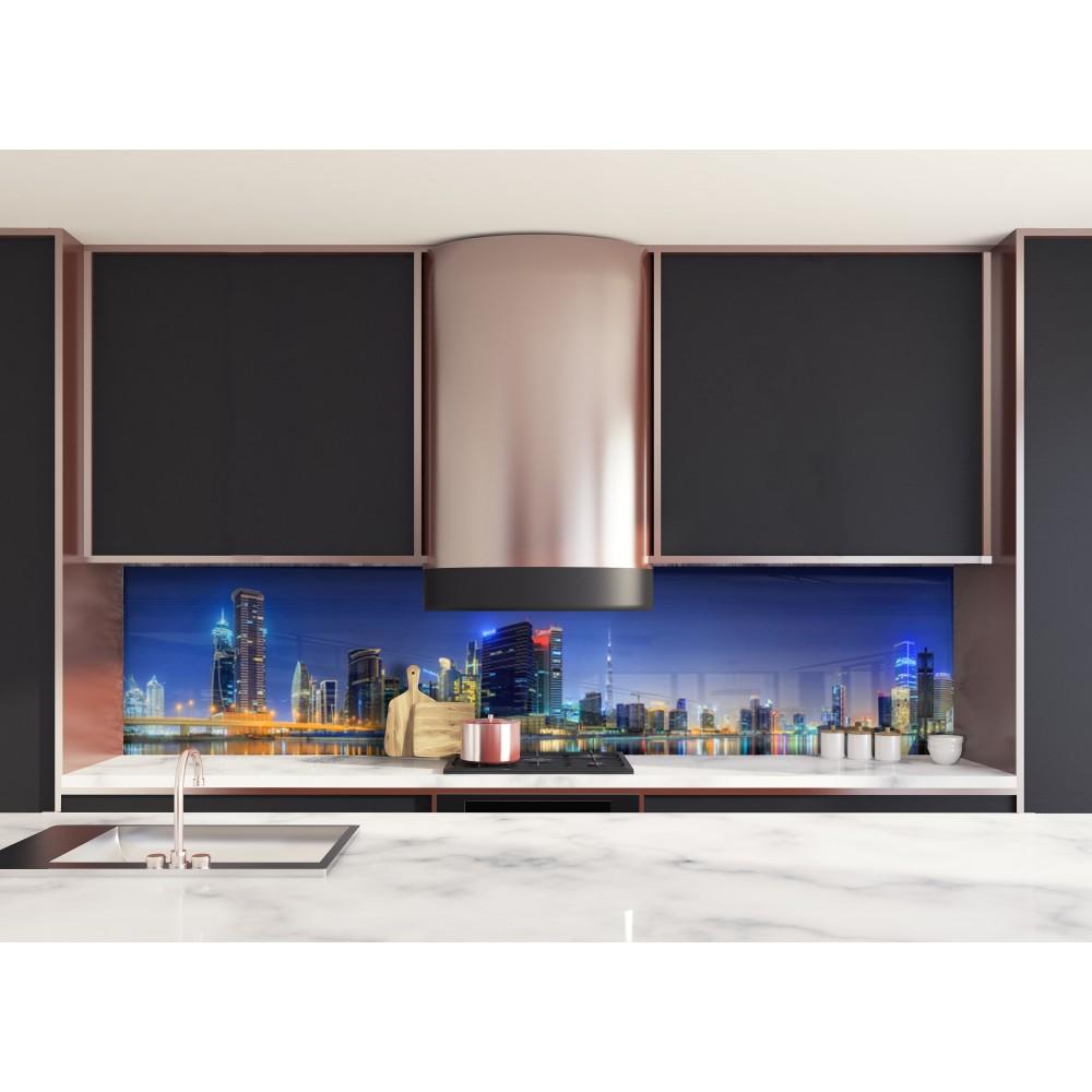 cr dence vue panoramique dubai verre et alu credence cuisine deco. Black Bedroom Furniture Sets. Home Design Ideas