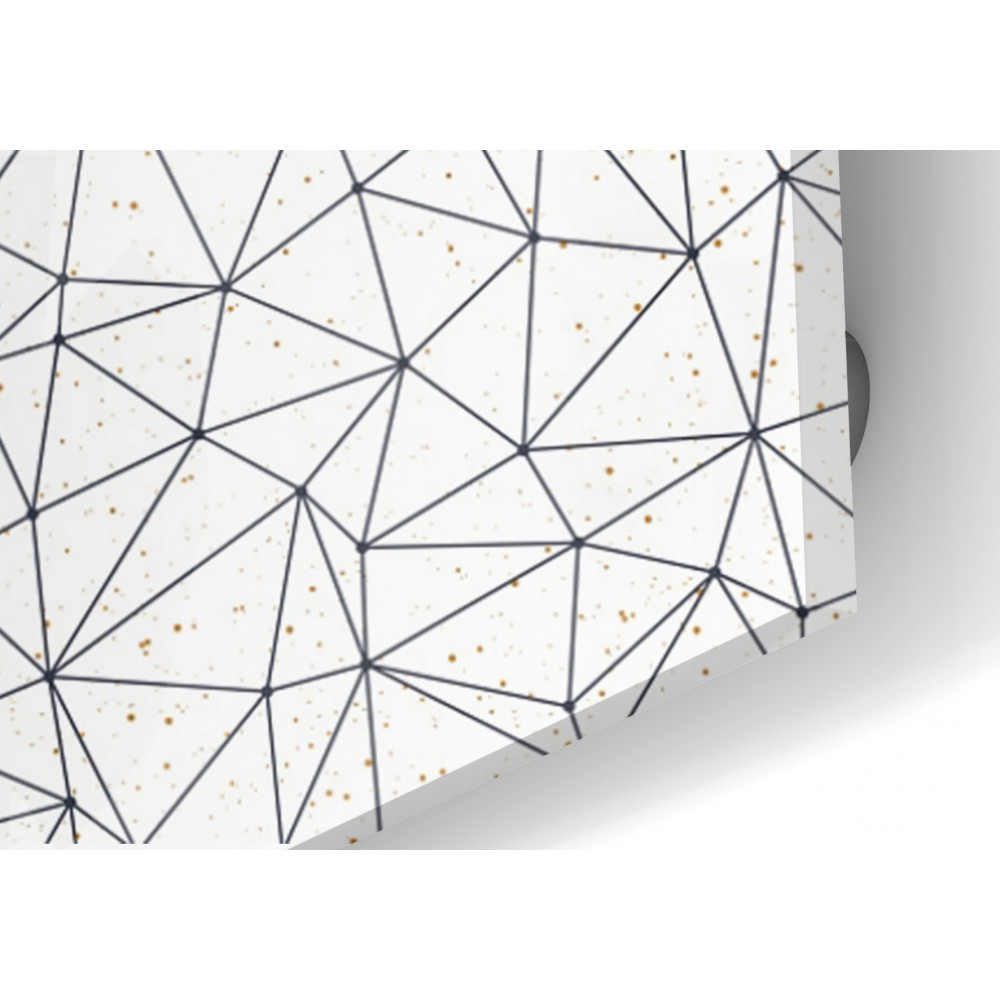 cr dence motif polygonal verre et alu credence cuisine deco. Black Bedroom Furniture Sets. Home Design Ideas