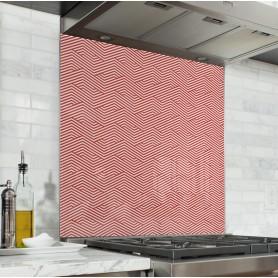 """Fond de hotte de cuisine """"Motif géométrique zigzag"""""""