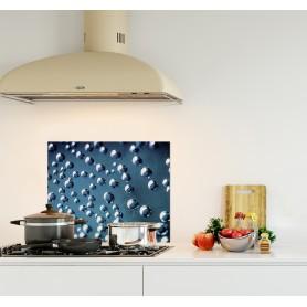 Crédence de cuisine bleue avec bulles d'air