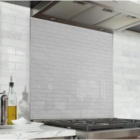 """Fond de hotte de cuisine """"Texture brique blanche"""""""