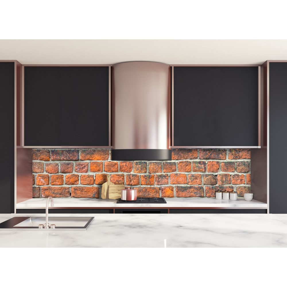 Best credence cuisine orange gallery design trends 2017 - Deco cuisine rouge ...