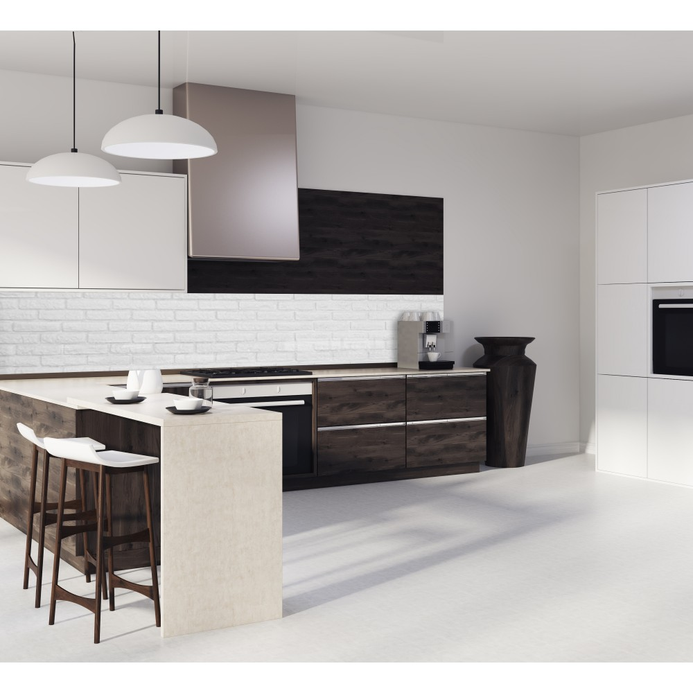 Emejing credence cuisine brique blanche gallery seiunkel for Credence cuisine deco