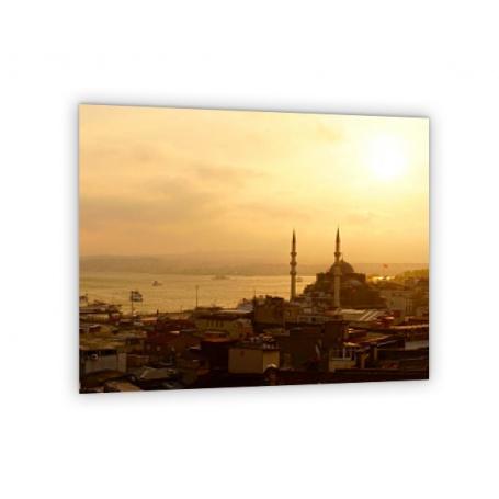 Crédence de cuisine vue panoramique Istanbul coucher de soleil