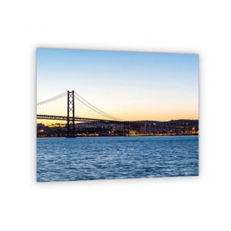 Crédence de cuisine paysage pont de Lisbonne au crépuscule
