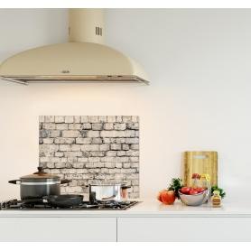 Crédence de cuisine vieux mur de pierre