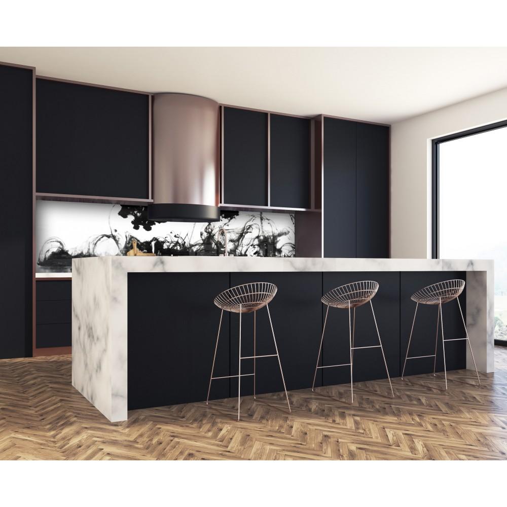 acheter cr dence de cuisine fond de hotte graphique encre. Black Bedroom Furniture Sets. Home Design Ideas
