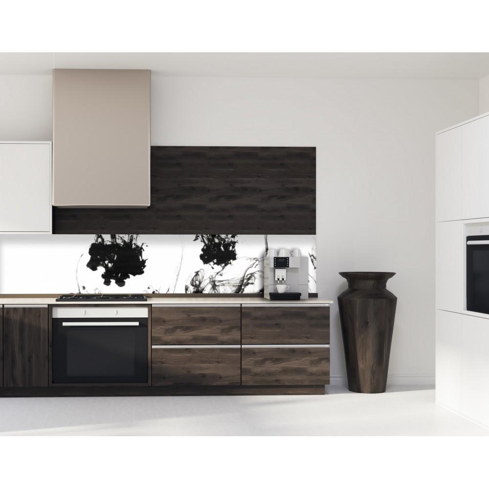 great acheter crdence de cuisine fond de hotte encre noire en verre panneau aluminium pas cher. Black Bedroom Furniture Sets. Home Design Ideas