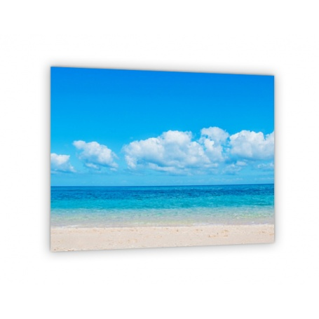 Crédence de cuisine plage paradisiaque, ciel bleu