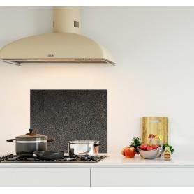 Crédence de cuisine fond de mur noir et gris