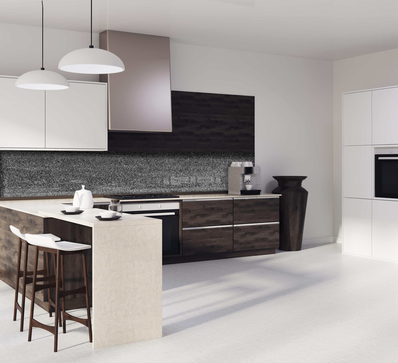 """Decoration De Mur De Cuisine crédence de cuisine """"fond de mur noir et gris"""""""
