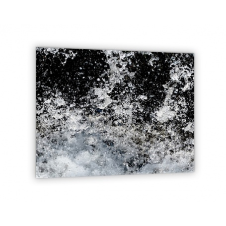 Crédence de cuisine effet chutes d'eau noir et blanc