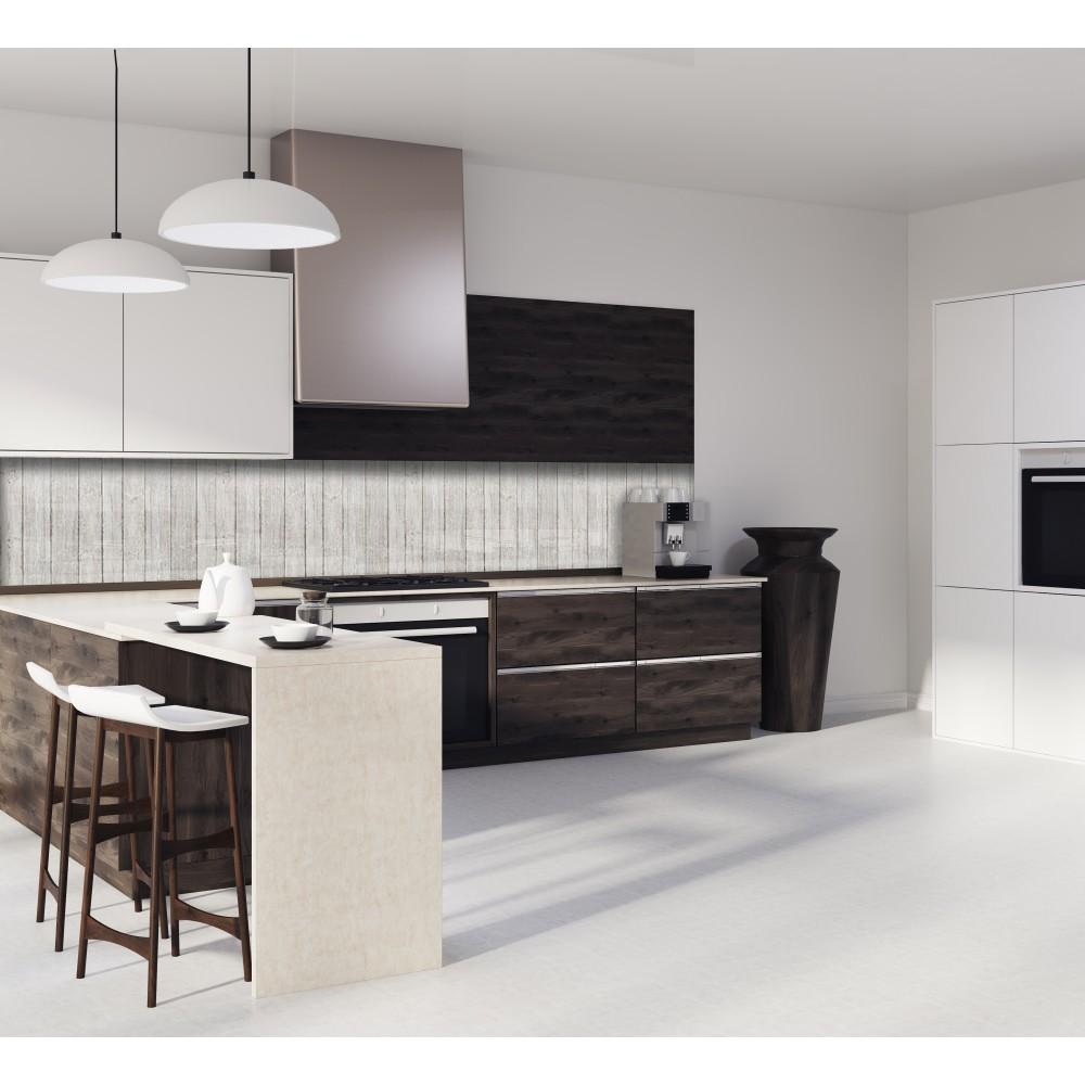 cr dence texture bois clair verre et alu credence. Black Bedroom Furniture Sets. Home Design Ideas