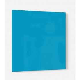 Fond de hotte uni bleu clair perroquet
