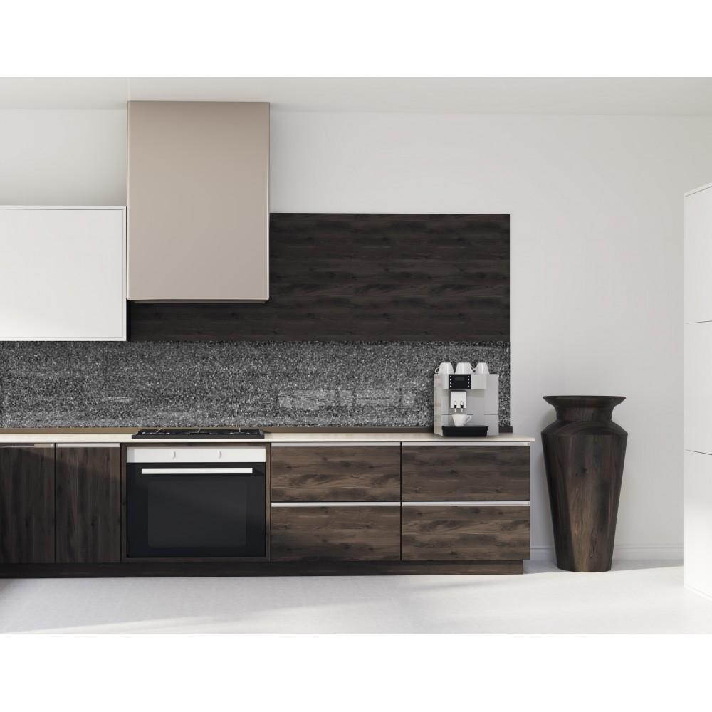 Crédence effet granit anthracite - Verre/alu - Credence Cuisine Deco