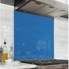 Fond de hotte uni bleu cobalt