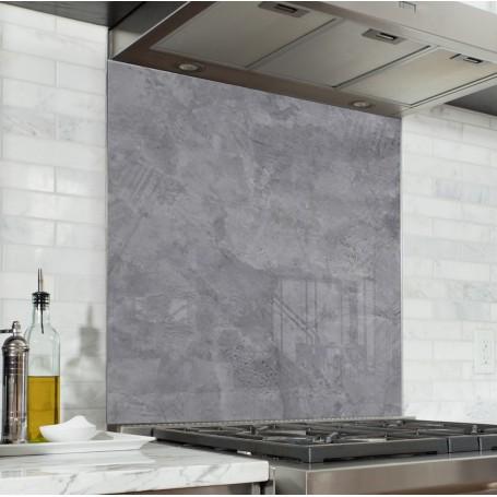 Fond de hotte effet béton ciré gris clair