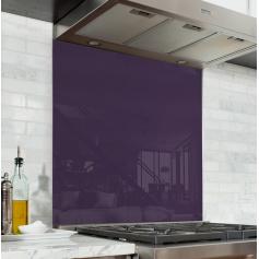 Fond de hotte uni violet foncé, effet myrtille