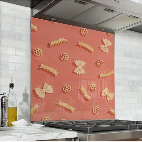Fond de hotte corail motif pâtes
