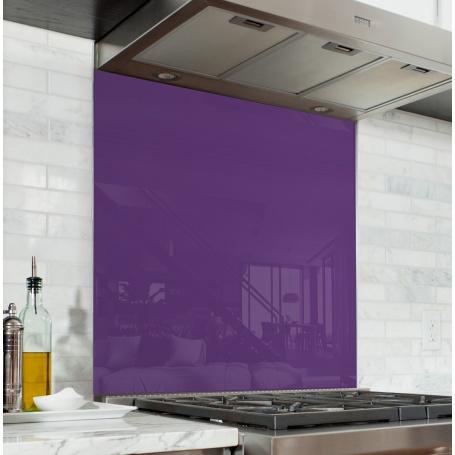 Fond de hotte Violette - Verre & alu - Credence Cuisine Deco