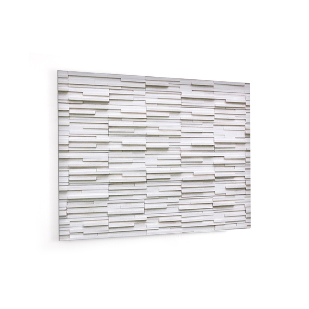 Mur Effet Brique Blanche fond de hotte effet brique blanche - verre/alu - credence