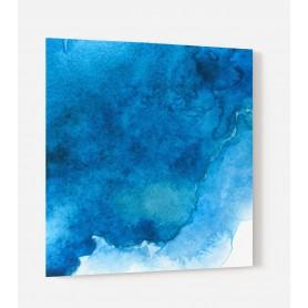Fond de hotte blanc effet aquarelle bleue