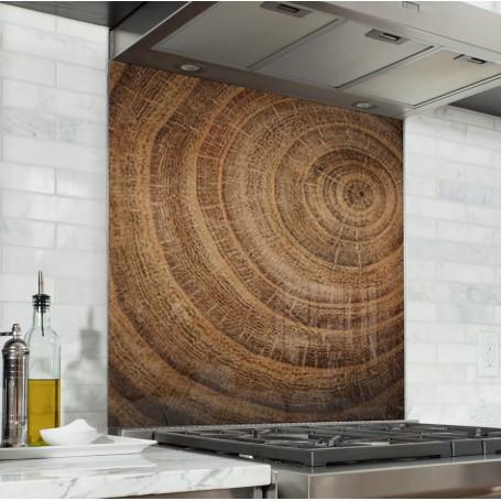 Fond de hotte texture bois effet tronc d'arbre
