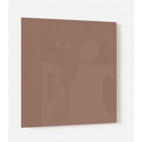 Fond de hotte uni marron brun, effet roseraie