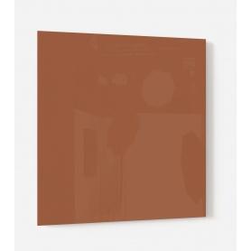 Fond de hotte uni brun marron brique