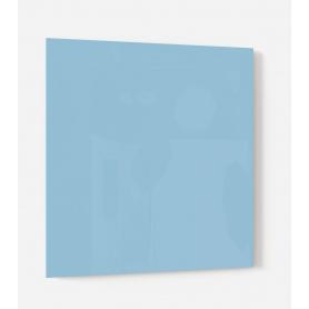 Fond de hotte uni bleu clair, grain de sel