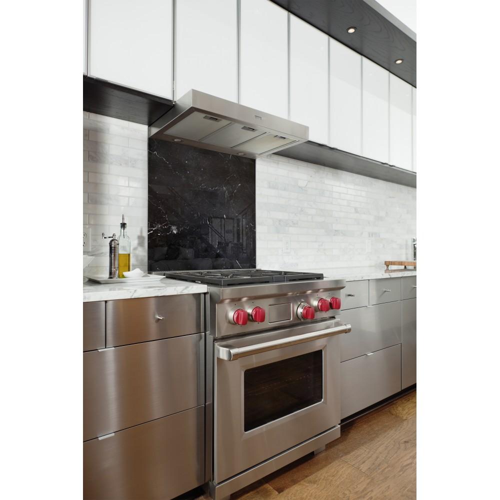 fond de hotte effet marbre noir verre et alu credence. Black Bedroom Furniture Sets. Home Design Ideas