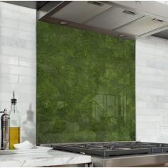 Fond de hotte effet texture gazon vert